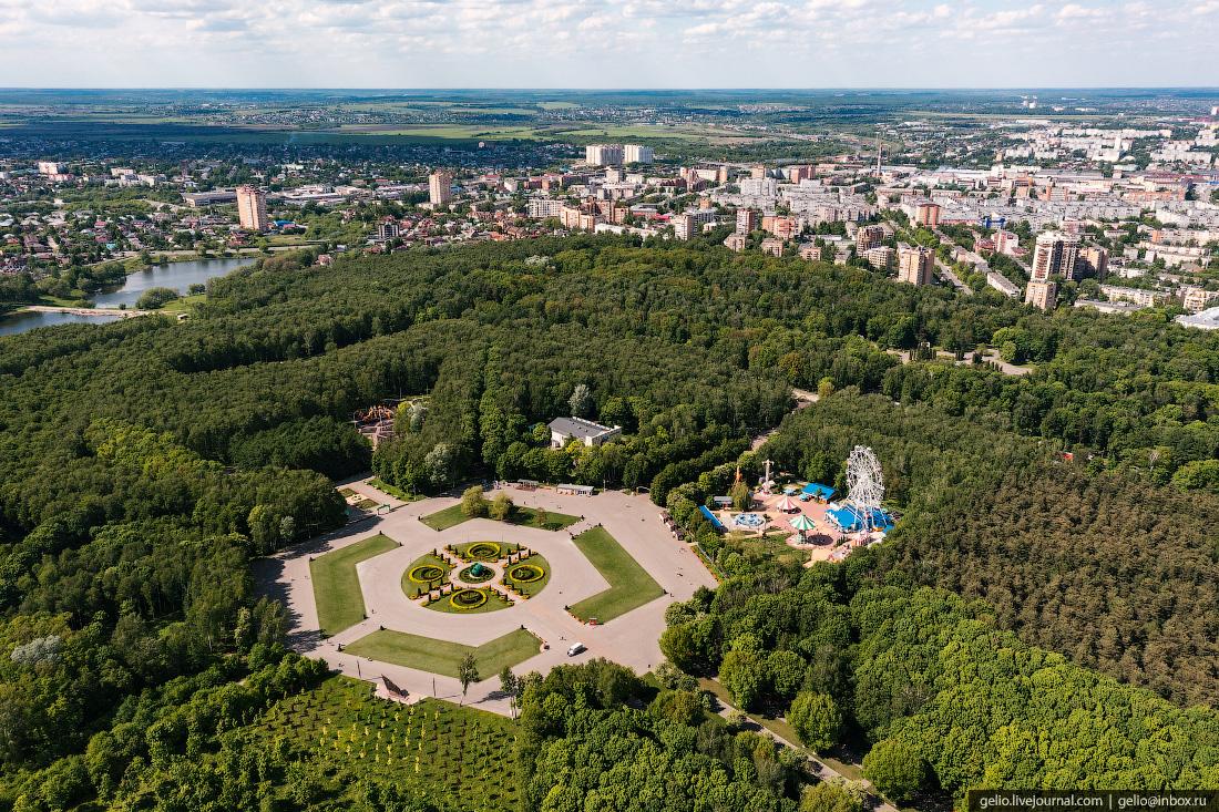 тула с высоты, центральный парк, белоусова