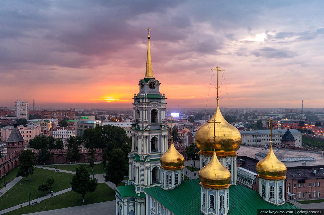 тула с высоты, тульский кремль