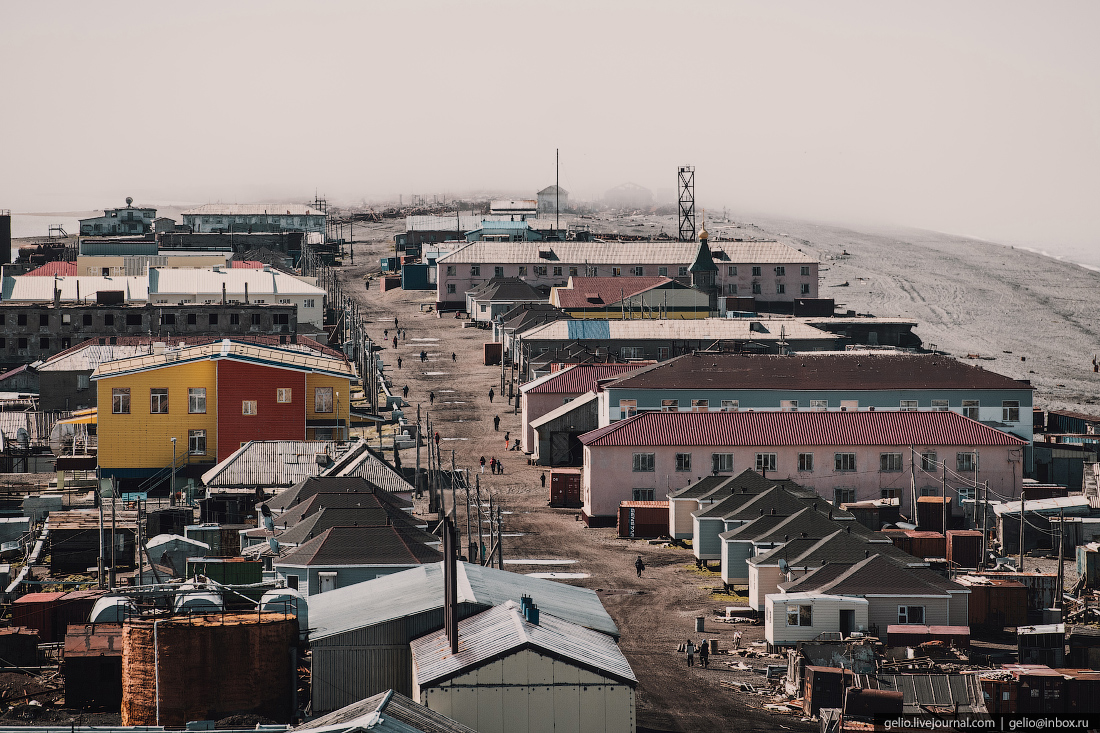уэлен, самый восточный населенный пункт, чукотка, мыс дежнева