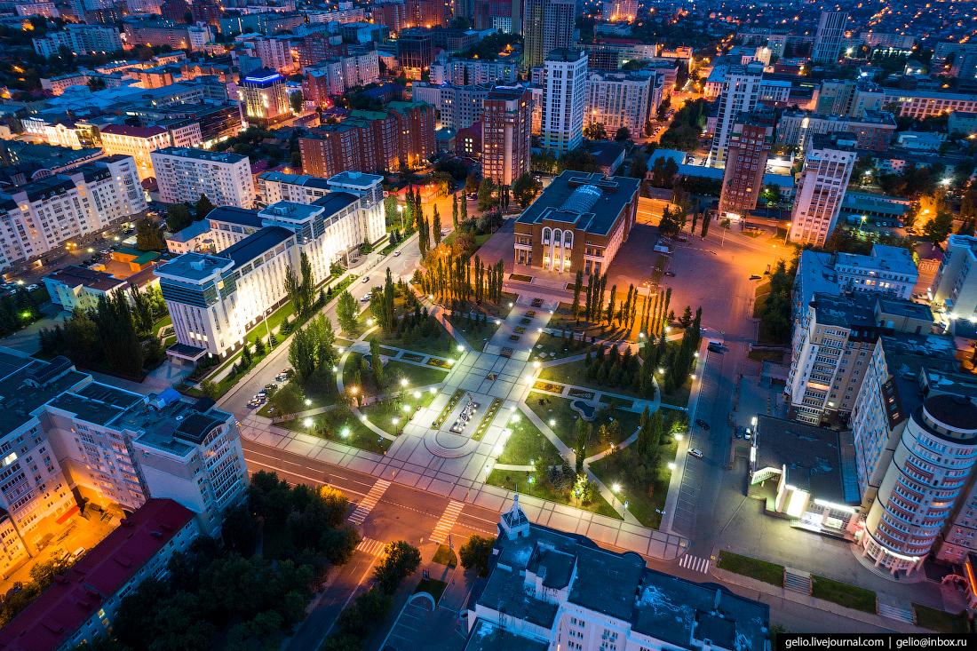 Уфа с высоты, Сквер Мустая Карима