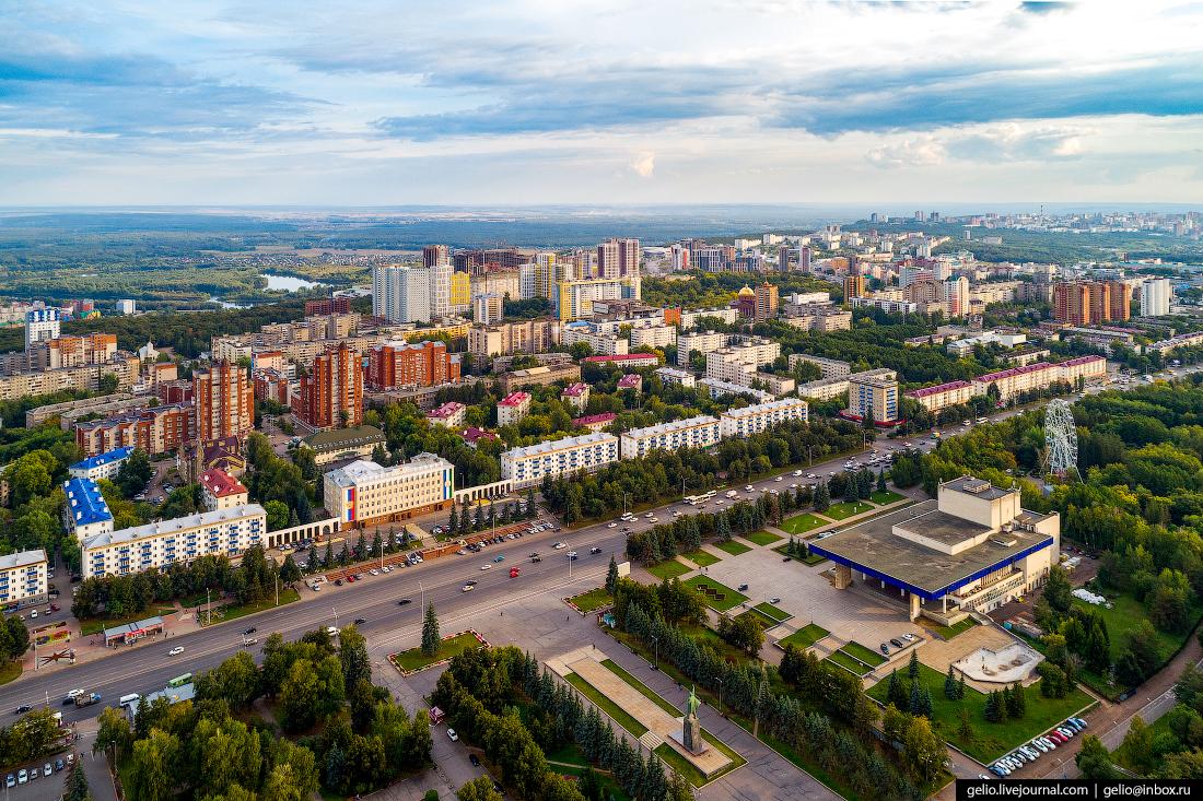 Уфа с высоты, Площадь Ленина