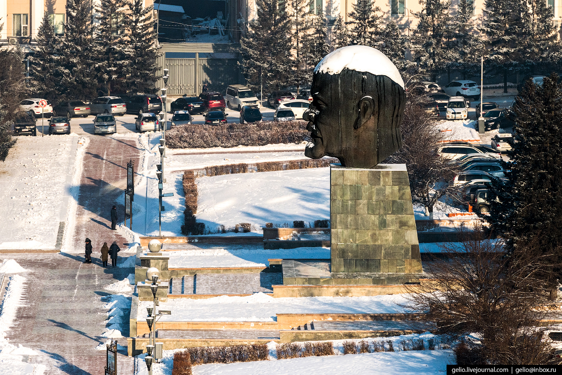 Голова Ленина, Улан-Удэ с высоты