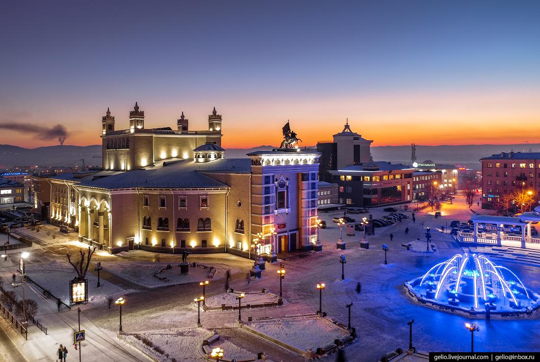 бурятский театр оперы и балета, Улан-Удэ с высоты