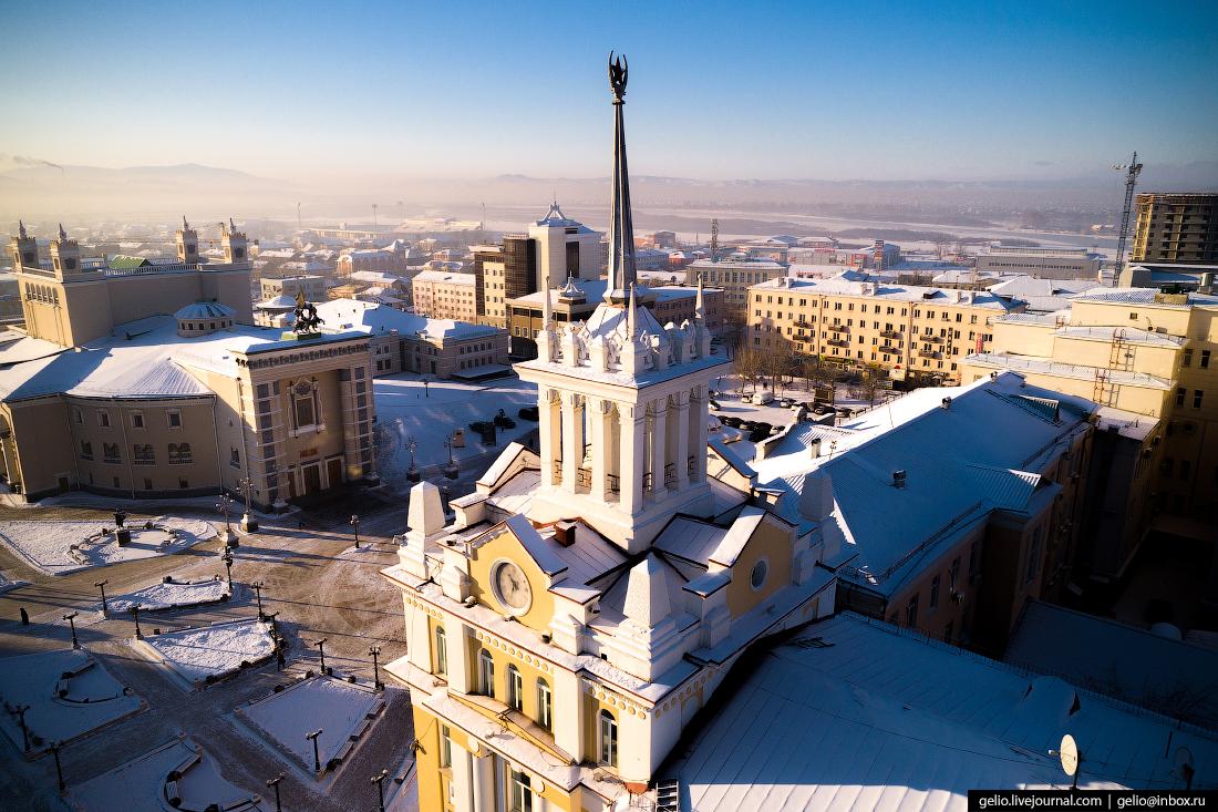 Забайкаллес, Улан-Удэ с высоты
