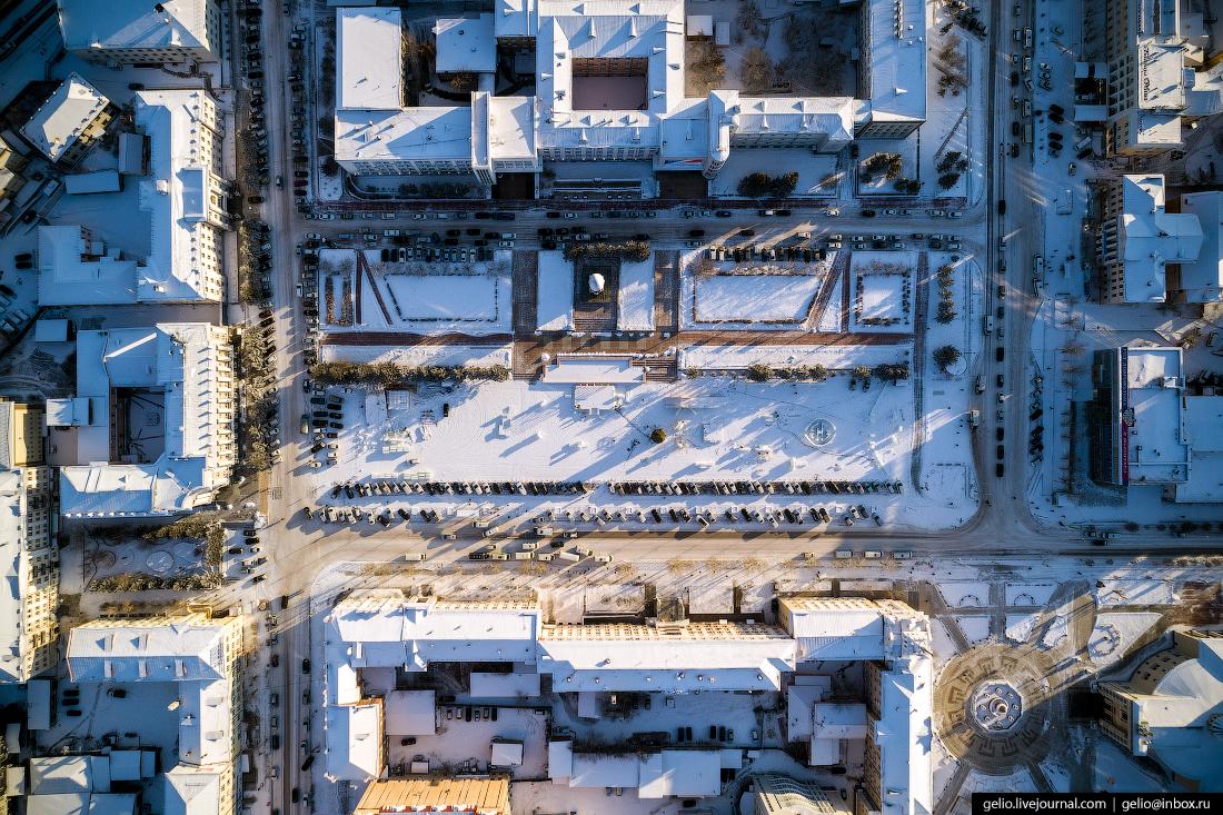 площадь советов, Улан-Удэ с высоты