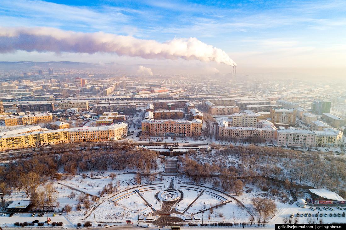 Мемориал Победы, Улан-Удэ с высоты