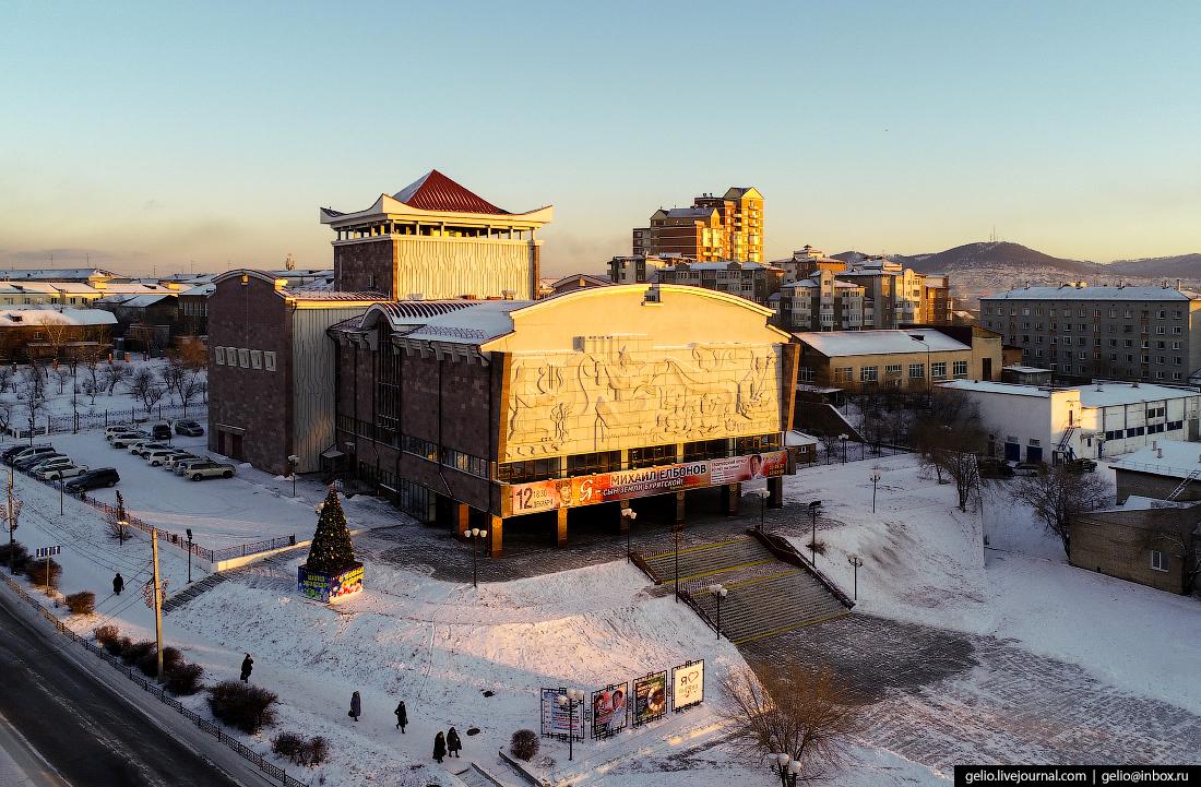 Бурятский академический театр драмы, Улан-Удэ с высоты