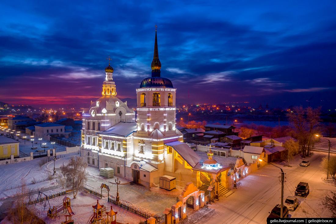 Свято-Одигитриевский собор, Улан-Удэ с высоты