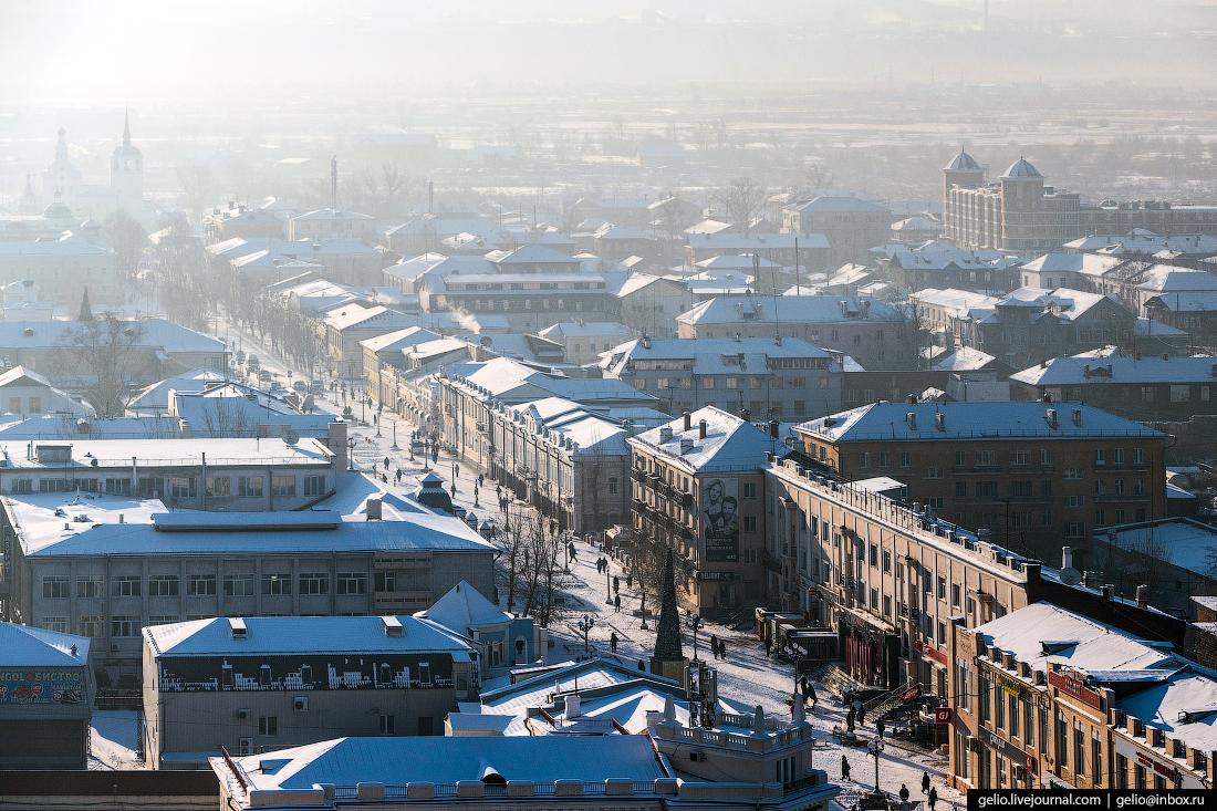 пешеходная ленина, Улан-Удэ с высоты