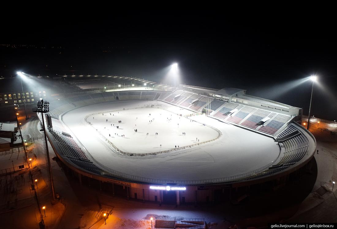 центральный стадион, Улан-Удэ с высоты