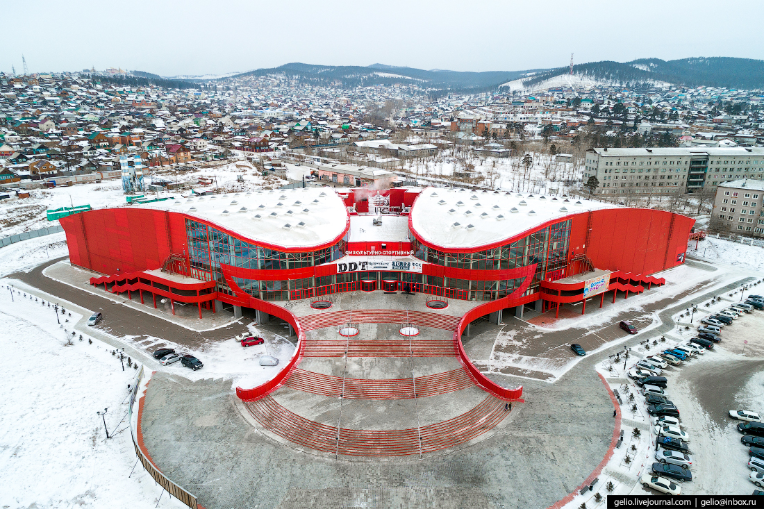 спорткомплекс, Улан-Удэ с высоты