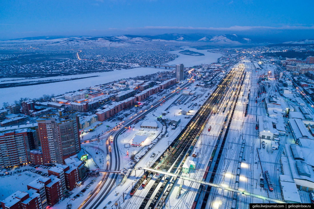 жд вокзал, Улан-Удэ с высоты
