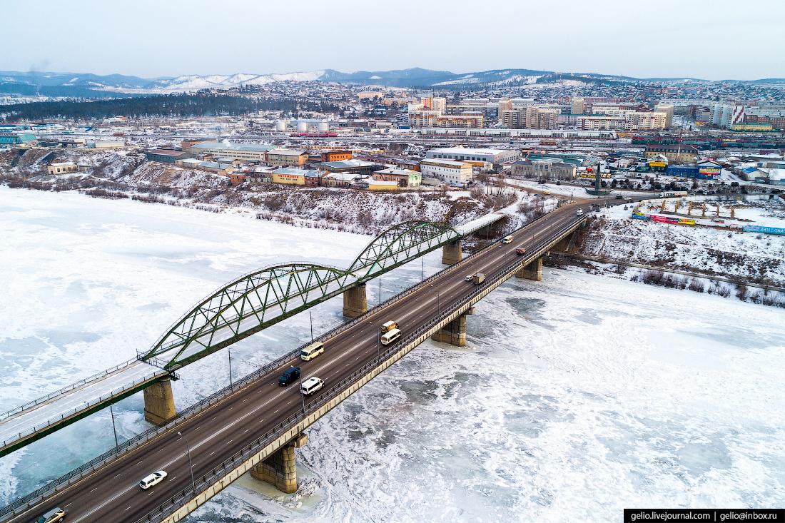 Селенгинский мост, Улан-Удэ с высоты