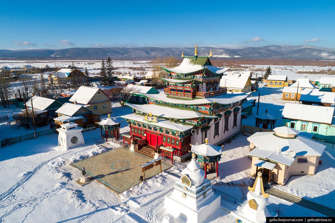 Иволгинский дацан, Улан-Удэ с высоты