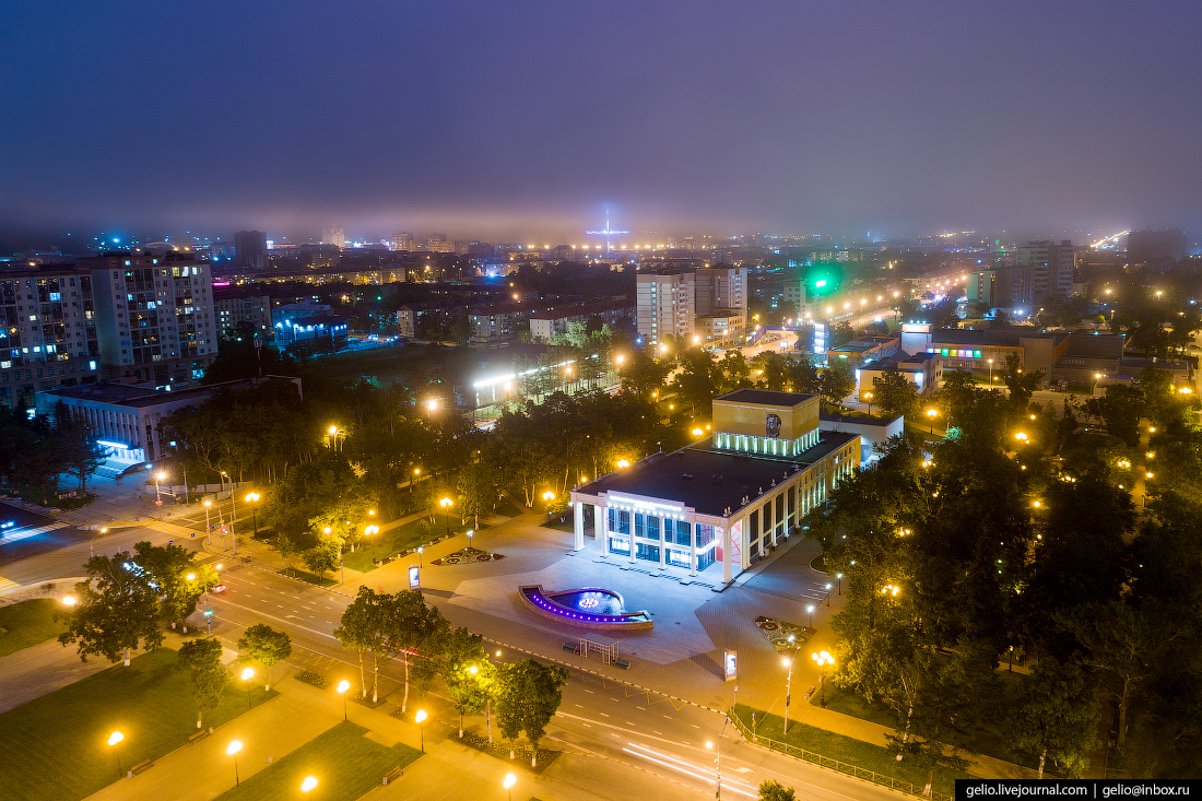 Южно-Сахалинск с высоты Чехов-центр