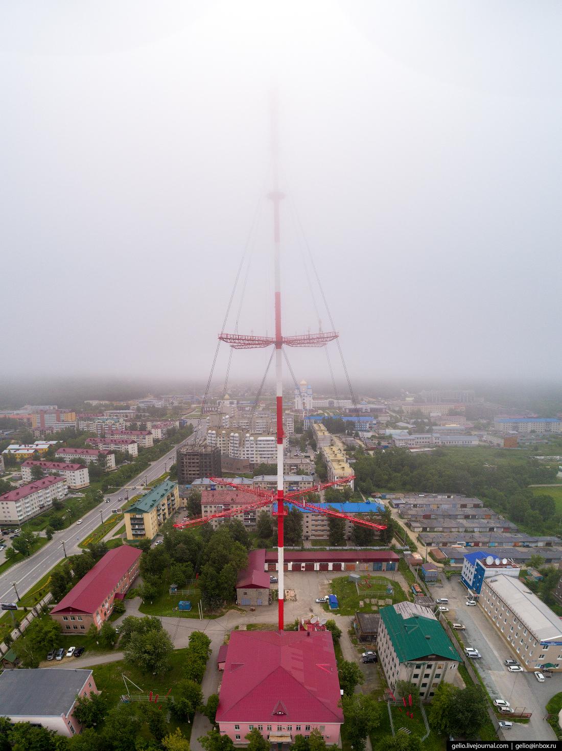 Южно-Сахалинск с высоты телебашня