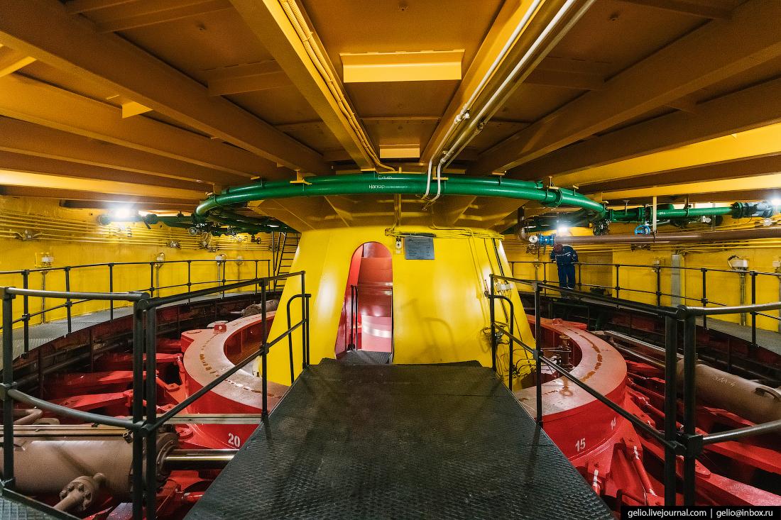 волжская гэс, шахта турбины, турбины