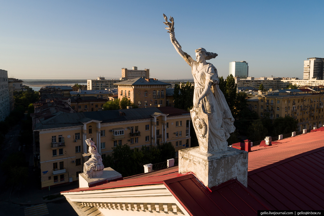 Волгоград с высоты: город, возрождённый после войны