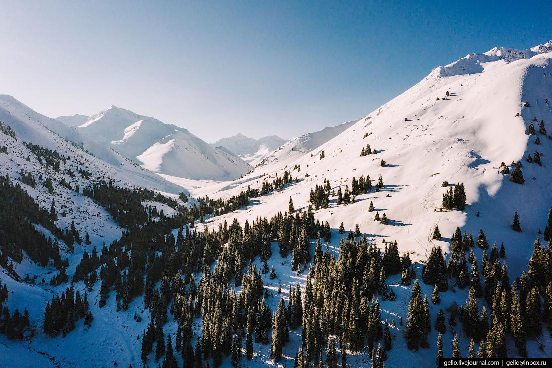 Зимний Кыргызстан Ущелье Боз-Учук