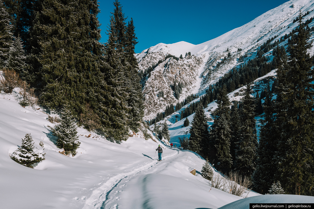 Зимний Кыргызстан Юрточный лагерь