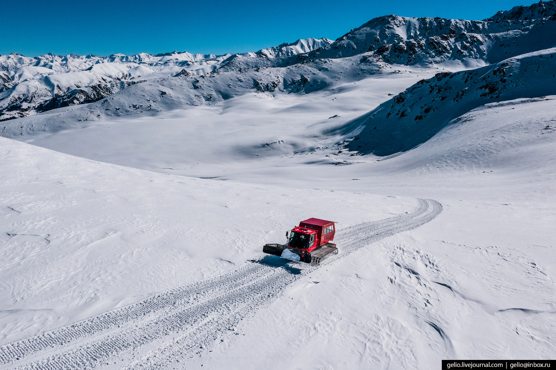 Зимний Кыргызстан ратрак