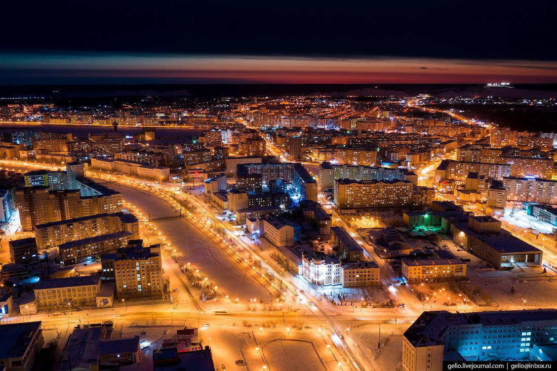 Якутск с высоты Озеро Тёплое