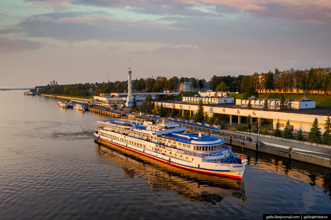 Ярославль с высоты речной вокзал