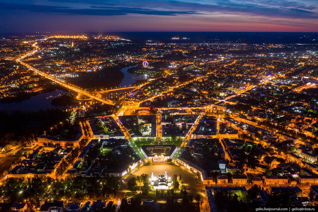 Ярославль с высоты Советская площадь