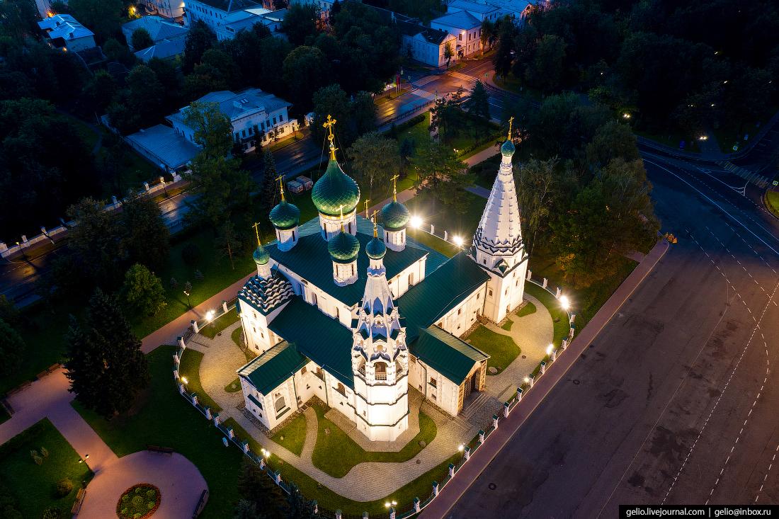 Ярославль с высоты Церковь Ильи Пророка