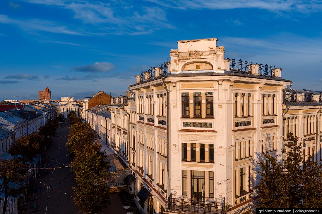 Ярославль с высоты гостиница Бристоль