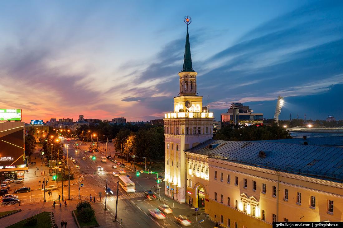 Ярославль с высоты Улица Свободы