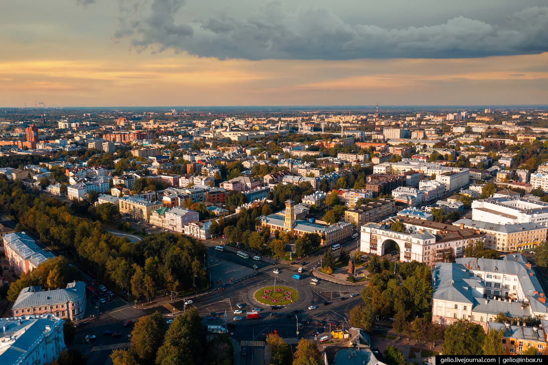 Ярославль с высоты Красная площадь