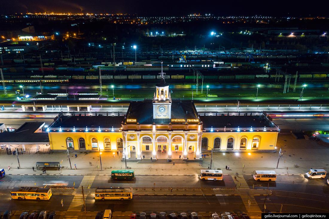 Ярославль с высоты железнодорожная станция вокзал