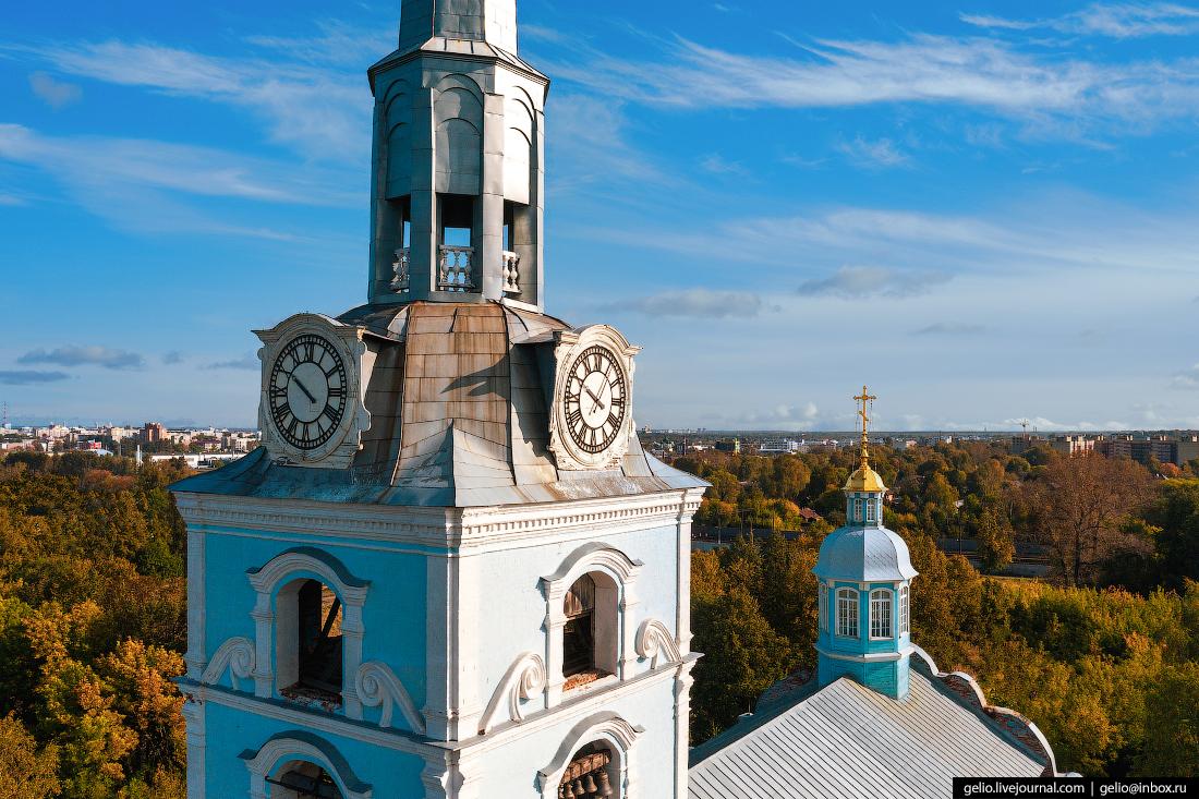 Ярославль с высоты Храм святых апостолов Петра и Павла петропавловский