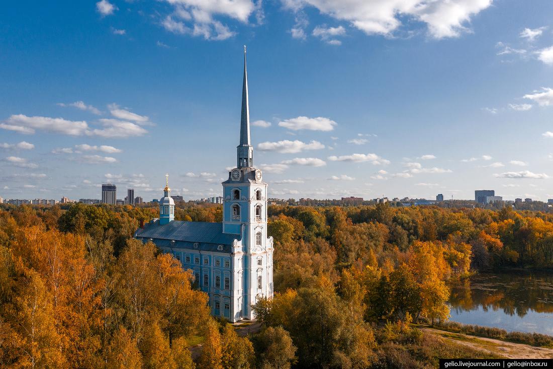 Ярославль с высоты Храм святых апостолов Петра и Павла