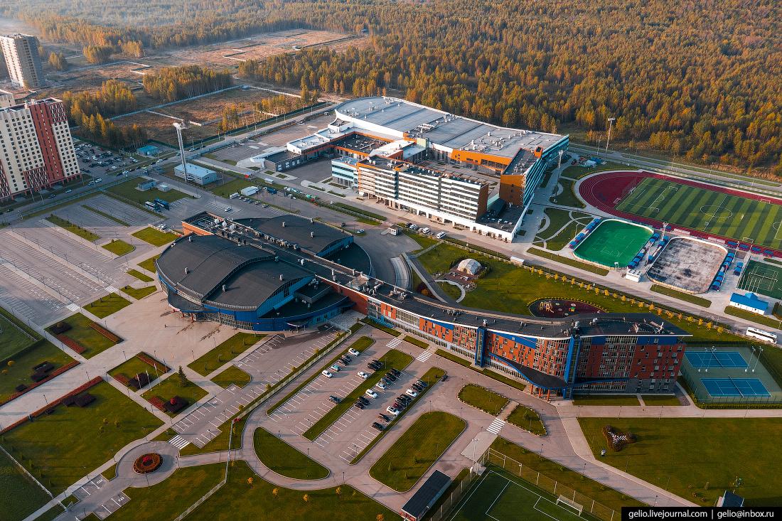 Ярославль с высоты Локомотив спорткомплекс