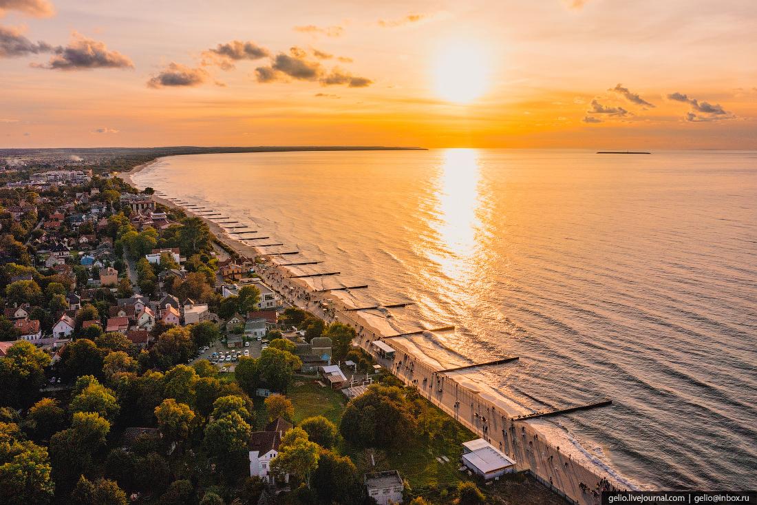 зеленоградск, курорт, балтийское море, променад, набережная, закат