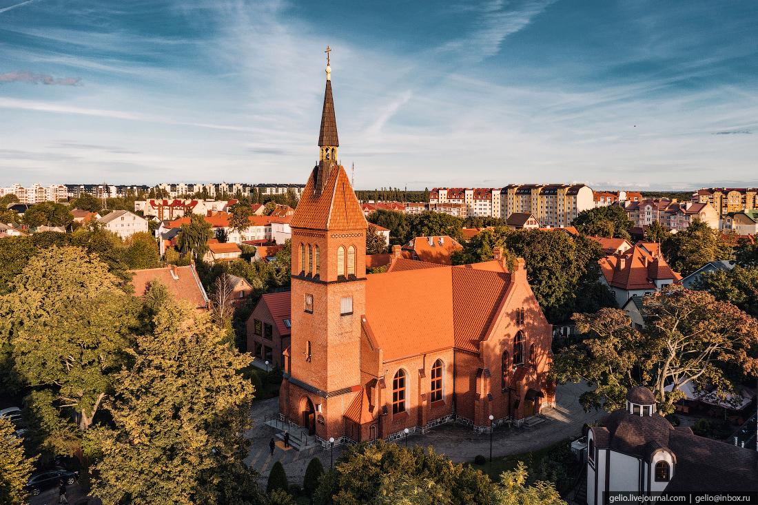 зеленоградск, Спасо-Преображенский собор, кирха Святого Адальберта