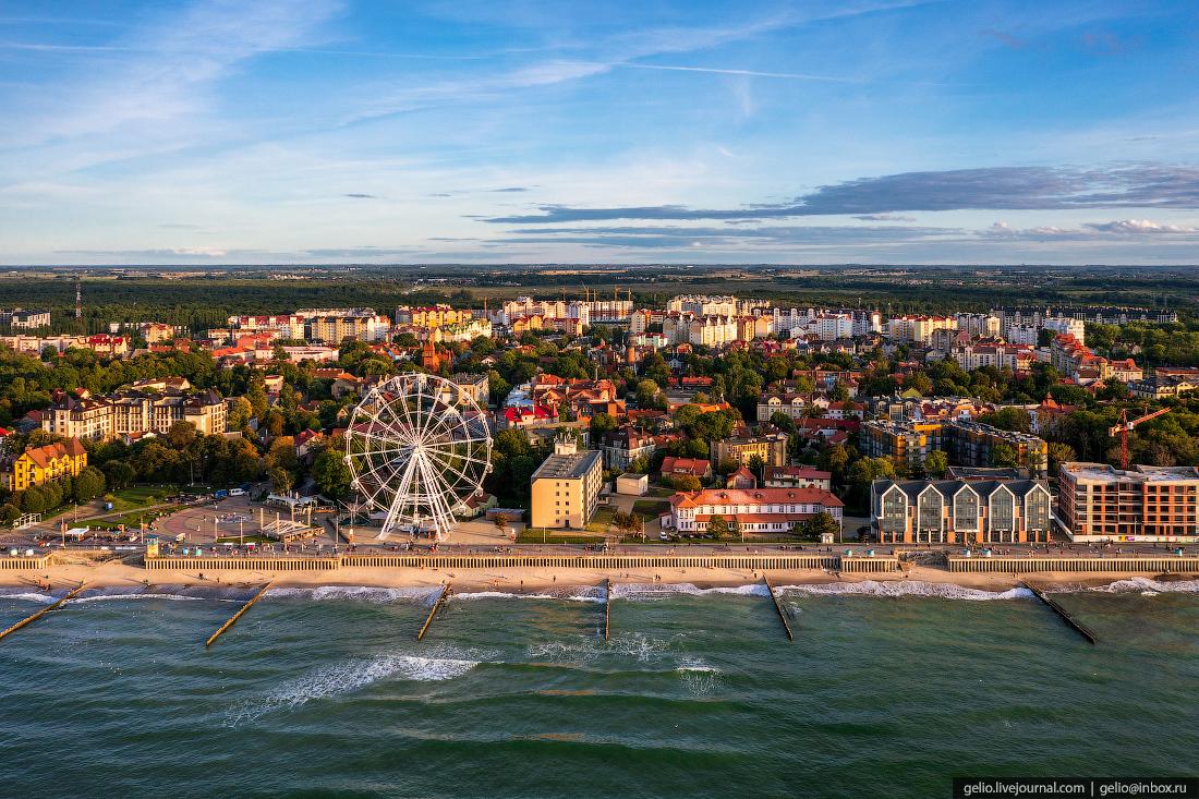 зеленоградск, курорт, балтийское море, променад, колесо обозрения, набережная, пляж