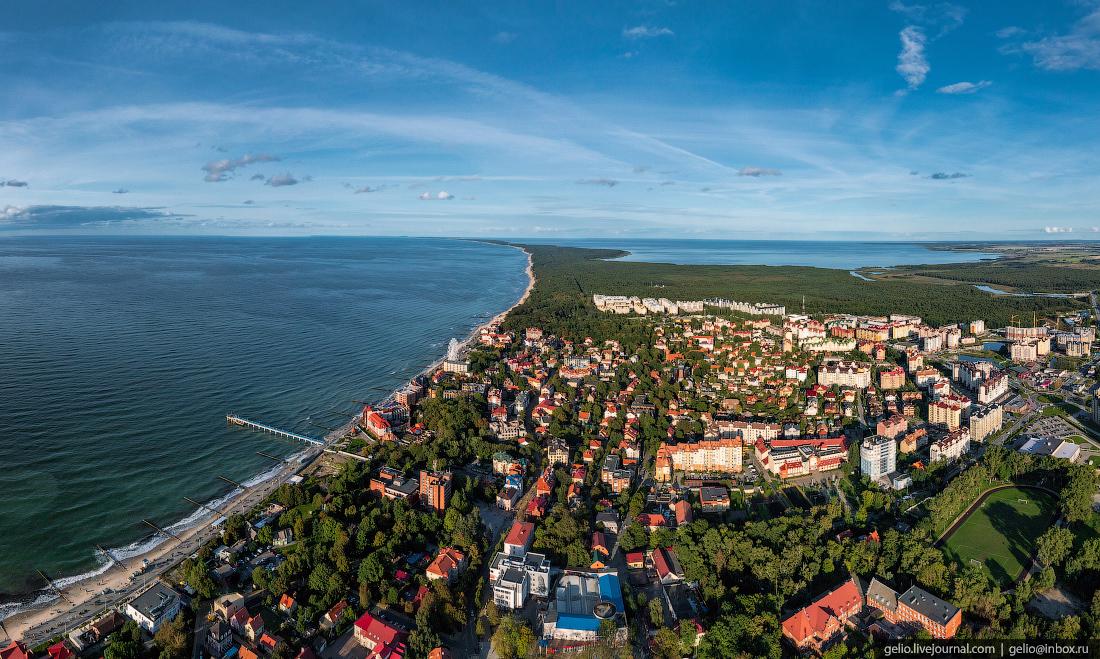 зеленоградск, курорт, балтийское море, панорама