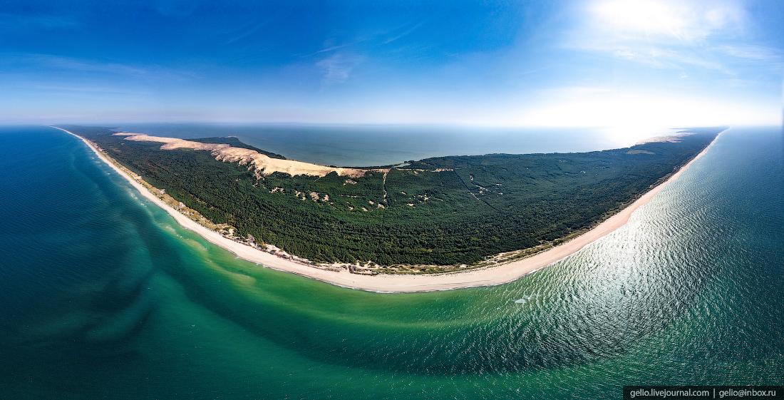 куршская коса, пляж, панорама, балтийское море