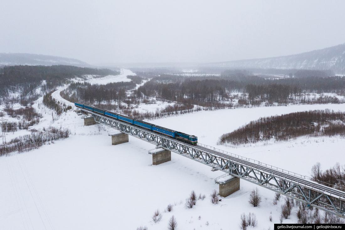 Железные дороги Якутии мост чульман