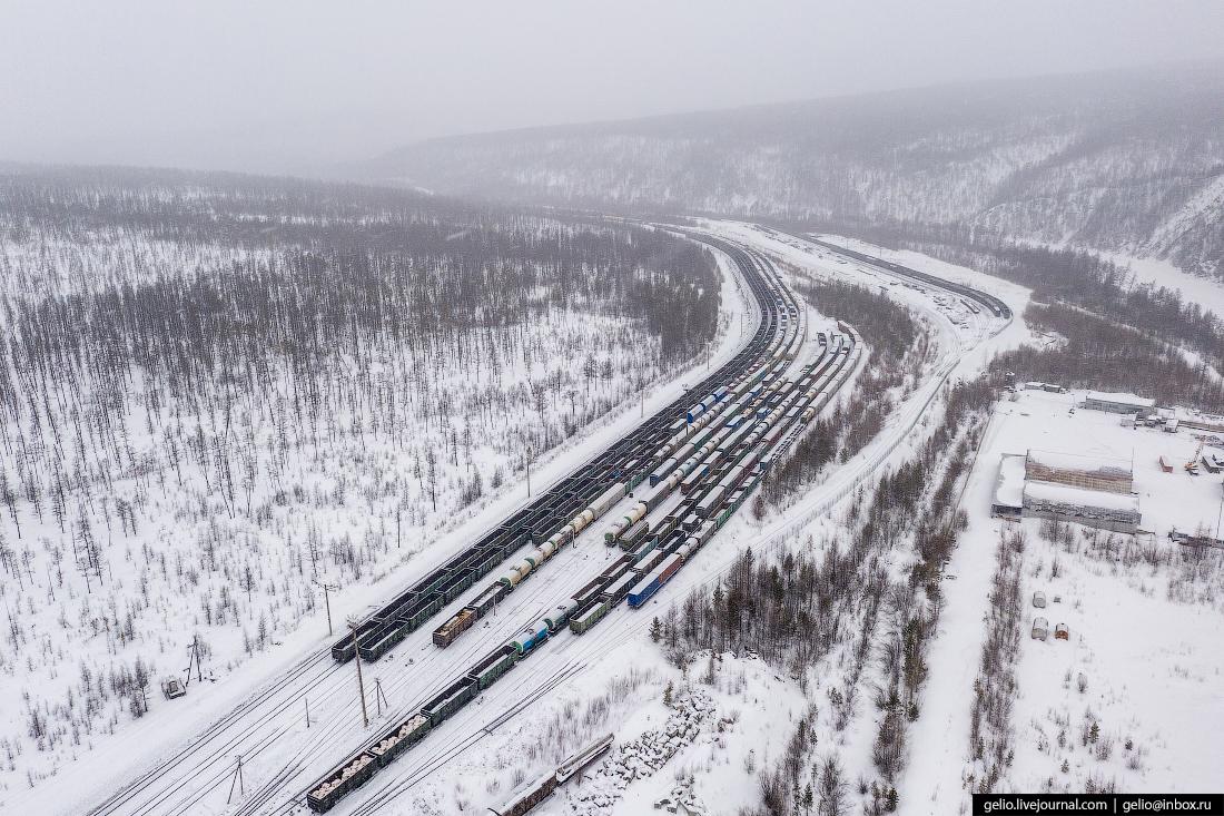 Железные дороги Якутии Нерюнгри Грузовая